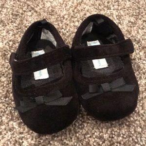 Ralph Lauren velvet black baby shoes